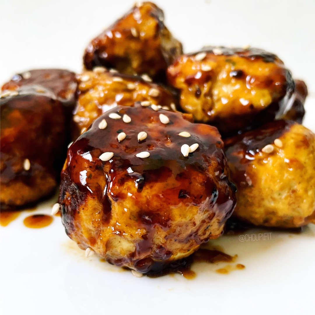 Boulette de poulet japonaise sauce teriyaki - Sainplement Healthy - blog de recette healthy et minceur